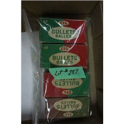4 Part Boxes of CIL Bullets - Various calibres