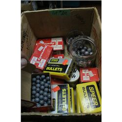 "Box of Round Ball Bullets - .451""; .375""; ,457""; .490""; .535""; .350"" & .315"""