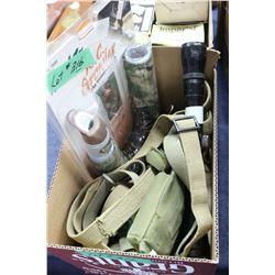 Flat w/Scope; Elk Call; Small Size Belt & RCBs Press Piece