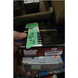 1 Box of 25-06, 117 gr. Pro Hunter Soft Point; 19 Rnds. 6.5 x 284, 129 gr. AB-LR
