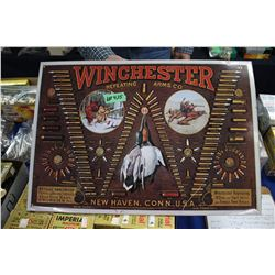 Winchester Repeating Arms Shell Board - Reproduction of an 1890 done in 1974
