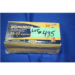 2 Boxes of Dominion (CIL) Factory 32-20 Winchester Special, 115 gr.