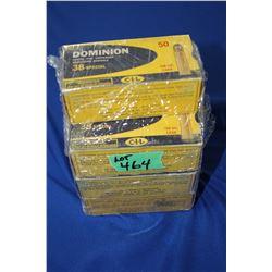 7 Boxes of Dominion (CIL) 38 Special, 158 grain Ammo