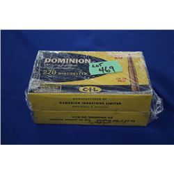 2 Boxes of Dominion (CIL) Factory 270 Winchester, 160 gr. Ammo