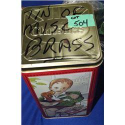 Tin of Miscellaneous Brass