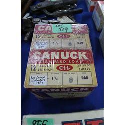 """2 Canuck 12 ga., 2 5/8"""" Shot Gun Ammo - Roll Crimp Collector"""