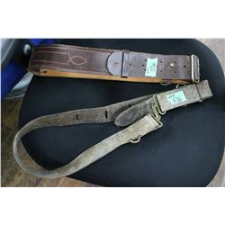 "2 Belts - 1 is very old with an ""S"" clasp"