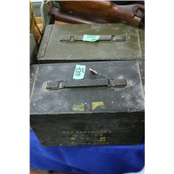2 Metal Ammo Boxes