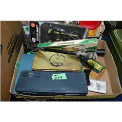 Bipod; Pistol Scope; Sling Shot; Lube Pads; Clip; Book & Misc.