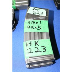 2 HK-223 Steel (25 x 5) Magazines - Pinned at 5 Rnds