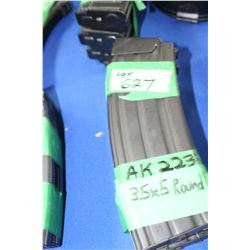 3 AK-223 (35 x 5) Magazines - Pinned at 5 Rnds