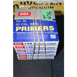 5 Boxes of 50 cal. BMG Primers