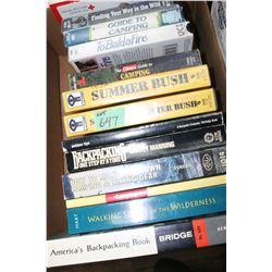 6 Outdoor Books & 6 Outdoor Videos