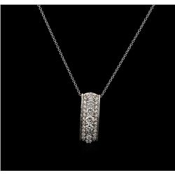 14KT White Gold 0.82 ctw Diamond Pendant With Chain