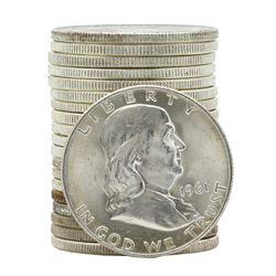 Roll of (20) 1961-D Brilliant Uncirculated Franklin Half Dollar Coins