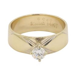 0.35 ctw Diamond Ring - 14KT Yellow Gold