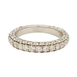 2.25 ctw Diamond Band - 14KT White Gold