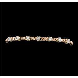 0.33 ctw Diamond Bracelet - 14KT Rose Gold