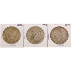 Lot of 1896-1898 $1 Morgan Silver Dollar Coins