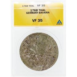 1768 Thal Germany Bavaria Coin ANACS VF35