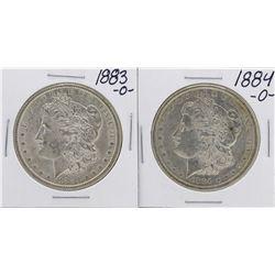 Lot of 1883-O to 1884-O $1 Morgan Silver Dollar Coins