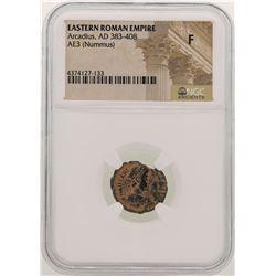 Arcadius 383-408 AD Ancient Eastern Roman Empire NGC F