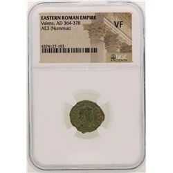 Valens 364-378 AD Ancient Eastern Roman Empire Coin NGC VF