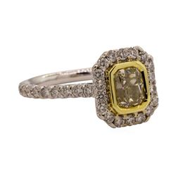 1.65 ctw Diamond Ring - 18KT White And Yellow Gold