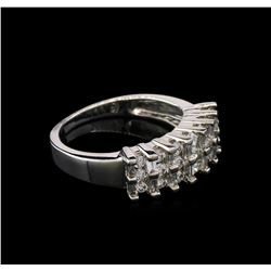0.91 ctw Diamond Ring - 14KT White Gold