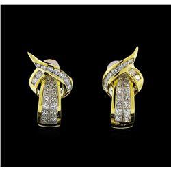 18KT Yellow Gold 1.76 ctw Diamond Earrings