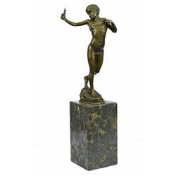 Austrian Boy Vienna Bronze Statue