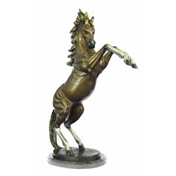 Muscular Toned Horse Bronze Sculpture