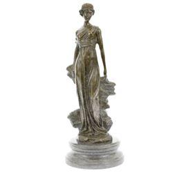 Roman Lady Bronze Statue