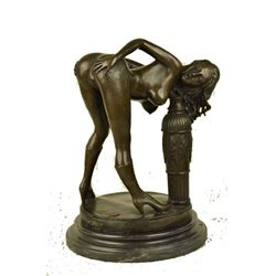 Stunning Nude Woman Deco Sexy Bronze Erotic Sculpture