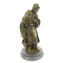 Holly Wise Man Church Religion Bronze Sculpture