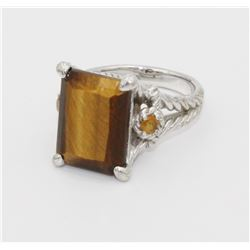 JUDITH RIPKA .925 TIGER EYE RING JUDITH RIPKA STERLING SILVER TIGER EYE RING. SIZE 9.5. PRE-OWNED. E