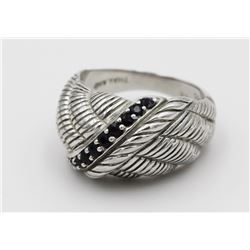 JUDITH RIPKA STERLING SILVER RING JUDITH RIPKA STERLING SILVER RING. SIZE 7.5. PRE-OWNED. ESTIMATE: