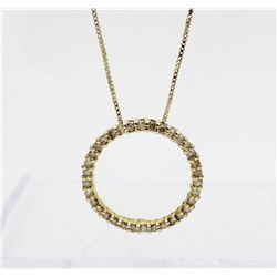 "STUNNING DIAMOND AND .925 NECKLACE STUNNING DIAMOND AND .925 NECKLACE ON 17.5"" CHAIN. GOLD TONED. CI"