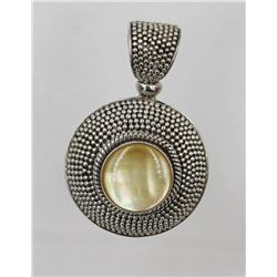 STERLING SILVER INDONESIA PENDANT STERLING SILVER INDONESIA PENDANT WITH MOTHER OF PEARL STONE. 20.4