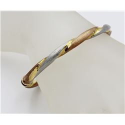 GORGEOUS HINGED CUFF BRACELET - GOLD PLATED & .925 GORGEOUS HINGED CUFF BRACELET. GOLD PLATED AND ST