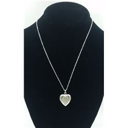 """I LOVE YOU"" STERLING SILVER LOCKET ""I LOVE YOU"" STERLING SILVER LOCKET ON 18"" CHAIN. PRE-OWNED. EST"