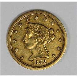 1852-O $2.50 GOLD RARE NEW ORLEANS COIN XF NICE! 1852-O $2.50 GOLD RARE NEW ORLEANS COIN XF NICE! ES