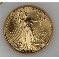 2003 1/10 OZ GOLD AMERICAN EAGLE GEM BU 2003 1/10 OZ GOLD AMERICAN EAGLE GEM BU. ESTIMATE: $200-$250