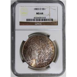 1883-O MORGAN SILVER DOLLAR NGC MS64 1883-O MORGAN SILVER DOLLAR NGC MS64. ESTIMATE: $85-$100