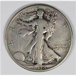 1938-D WALKING LIBERTY HALF DOLLAR VF KEY COIN 1938-D WALKING LIBERTY HALF DOLLAR VF KEY COIN. ESTIM