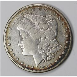 1902-S MORGAN SILVER DOLLAR F-VF KEY COIN 1902-S MORGAN SILVER DOLLAR F-VF KEY COIN! ESTIMATE: $125-