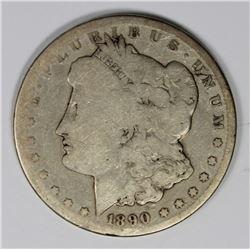 1890-CC MORGAN SILVER DOLLAR G-VG 1890-CC MORGAN SILVER DOLLAR G-VG. ESTIMATE: $90-$130