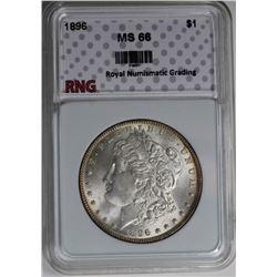1896 MORGAN SILVER DOLLAR RNG GEM BU+ 1896 MORGAN SILVER DOLLAR RNG GEM BU+ WHITE! VERY NICE! ESTIMA