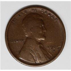 1909-S LINCOLN CENT VG/FINE KEY COIN! 1909-S LINCOLN CENT VG/FINE KEY COIN! ESTIMATE: $100-$150
