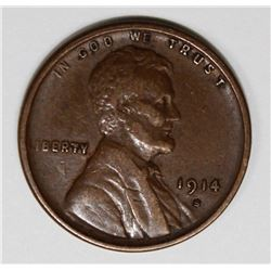 1914-S LINCOLN CENT. XF KEY COIN! 1914-S LINCOLN CENT XF KEY COIN! ESTIMATE: $55-$75